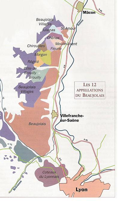 appellations van de beaujolais